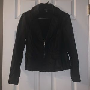 White House Black Market Nylon Ruffle Jacket